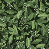 Carina - Leaves and Buds Black Yardage