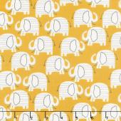 Wild About You - Elephants Gold Yardage