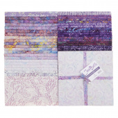 "Java Batiks Favorites Purples 10"" Squares"