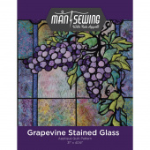 Man Sewing Grapevine Stained Glass Pattern