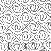Kinfolk - Spiral Maze White Yardage