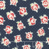 Smitten - Lovely Navy Yardage