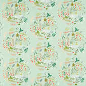 Woodlands - Fusions Wreathed Green Yardage