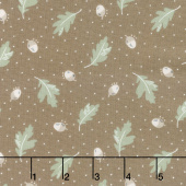 Harvest Road - Floating Acorn Chestnut Yardage