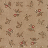 Hickory Road - Pansies Medium Brown Yardage