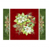 Deck the Halls - Place Mat Red Multi Digitally Printed Panel