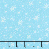 Gnoming Through the Snow - Snowflakes Light Blue Yardage