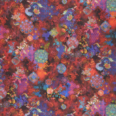 Flourish - Treasured Trinkets Garnet Digitally Printed Yardage