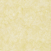 Queen Bee Batiks - Flora Yellow Yardage