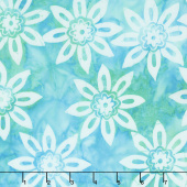 Salt Water Taffy Batiks - Flashy Aqua Yardage