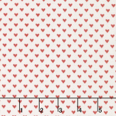 Hello Sweetheart - Mini Hearts Cream Yardage