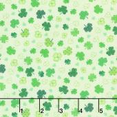 Irish Folk - Shamrocks Green Yardage
