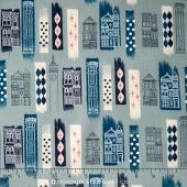 Jubilee - In The City Blue Yardage