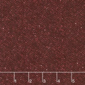 Woolies Flannel - Nubby Tweed Red Yardage
