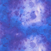 Misty - Misty Hydrangea Air Violet Digitally Printed Yardage