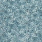 Best of Days - Wall Flower Blue Yardage