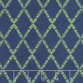 Harry & Alice - Lattice Navy Yardage