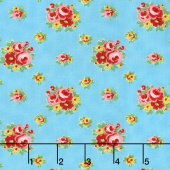 Love & Friendship - Love's Bouquet Sky Yardage