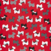 Dotty for Scottie - Sweet Scotties Red Yardage