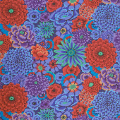Kaffe Fassett Collective - August 2020 Enchanted Cobalt Yardage