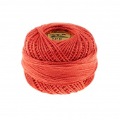 Presencia Perle Cotton Thread Size 8 Coral