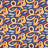 Hot Wheels - Tracks Navy Yardage