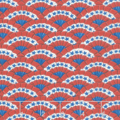 America the Beautiful - Bunting Barnwood Red Yardage
