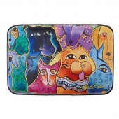 Laurel Burch Dogs and Doggies Armored Wallet