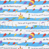 Oh the Places You'll Go - Stripes Bright Yardage