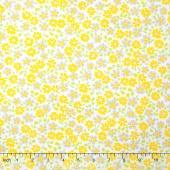 Cozy Cotton Flannels - Flowers Yellow Yardage