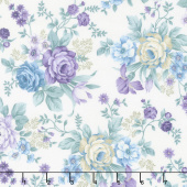 Twilight Garden - Allover Floral Linen Yardage