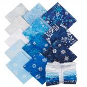 Artisan Batiks - Snowflakes 2 Metallic Fat Quarter Bundle