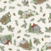 Cozy Cabin - Cabin & Pine Tossed Natural Yardage