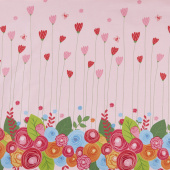 Simply Happy - Pink Border Yardage