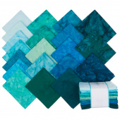 Lava Batik Solids - Lagoon Fat Quarter Bundle