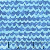 Undersea - Stonehenge Kids 3D Tonal Waves Blue Turquoise Yardage