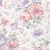 Woodside Blossom - Flowers Vintage Yardage