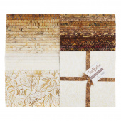 "Java Batiks Favorites Naturals 10"" Squares"