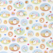 Molang - Patches White Yardage