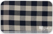 Homespun - Black/Teadye Checked Yardage
