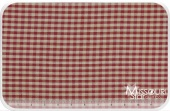 Homespun - Red/Teadye Little Square Check Yardage for Dunroven House