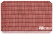 Homespun - Red/Teadye Reverse Double Pane Yardage for Dunroven House