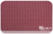 Homespun - Red/Teadye Small Window Pane Yardage for Dunroven House