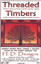 Threaded Timbers Wall Hanging Pattern By Mary Lou Hallenbeck  for H.D.Designs