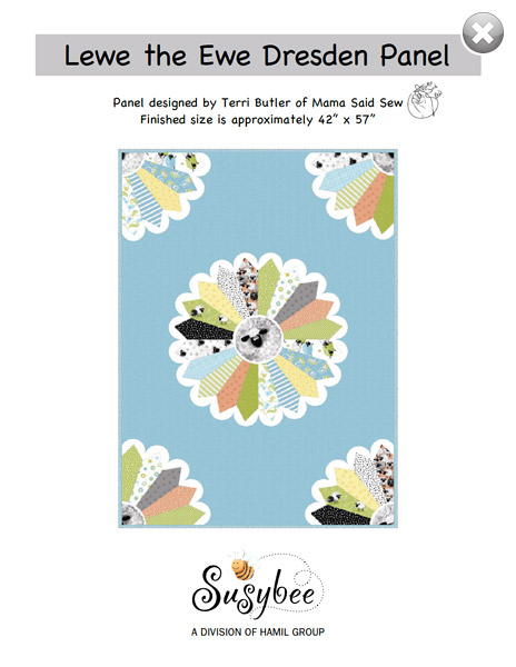 Lewe the Ewe Dresden Panel Quilt