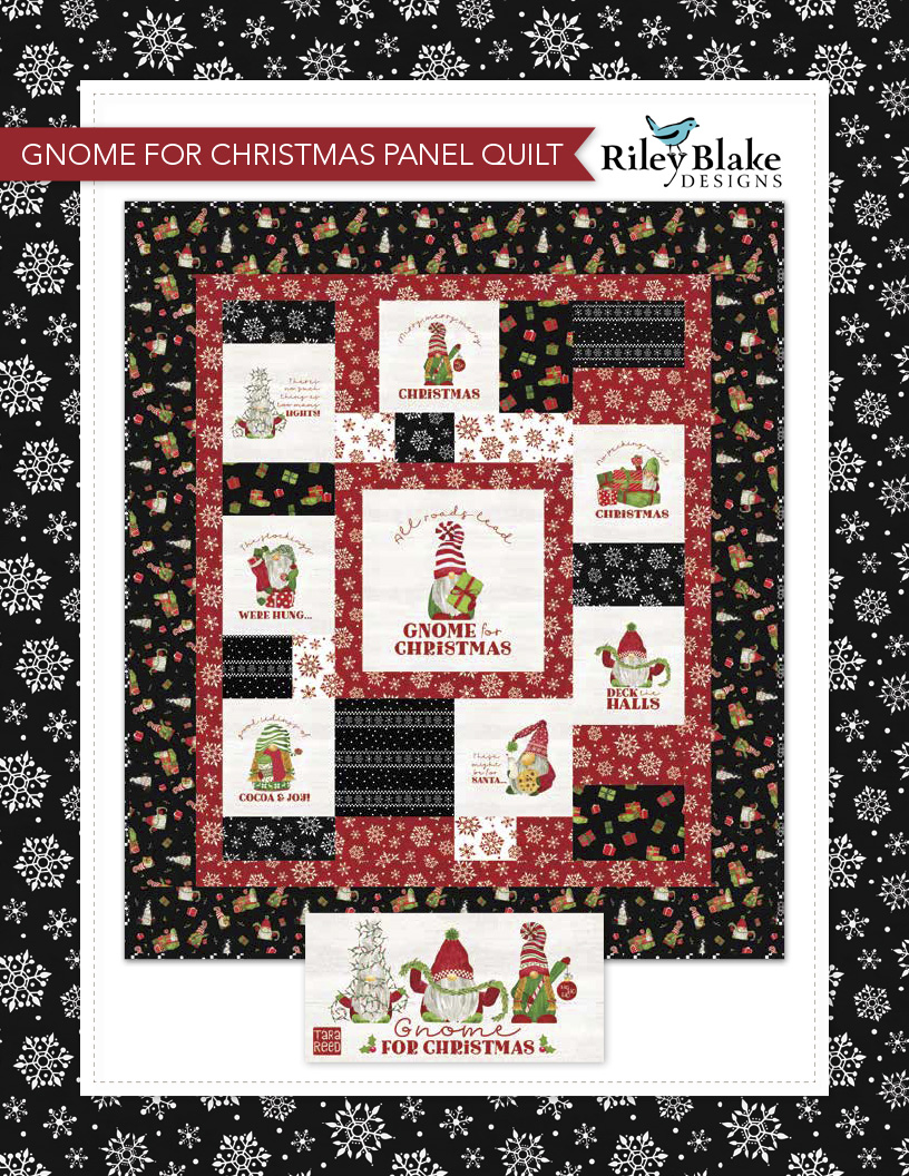 Gnome for Christmas Panel Quilt