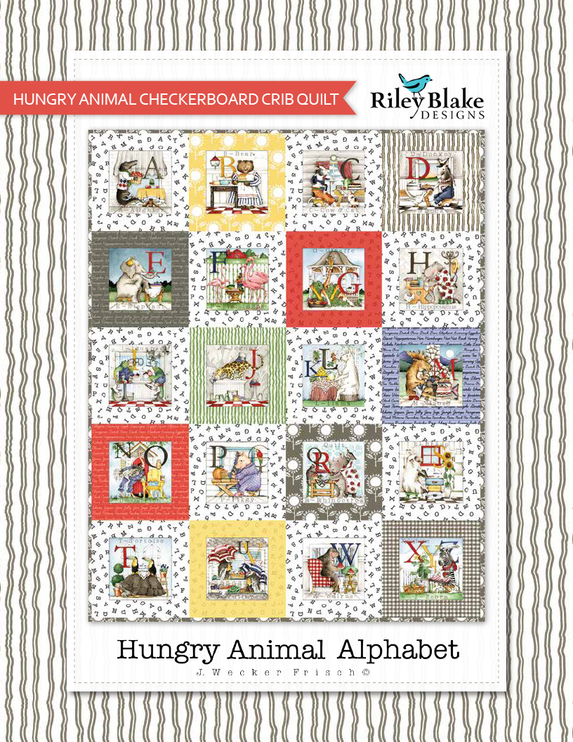 Hungry Animal Checkerboard Crib Quilt