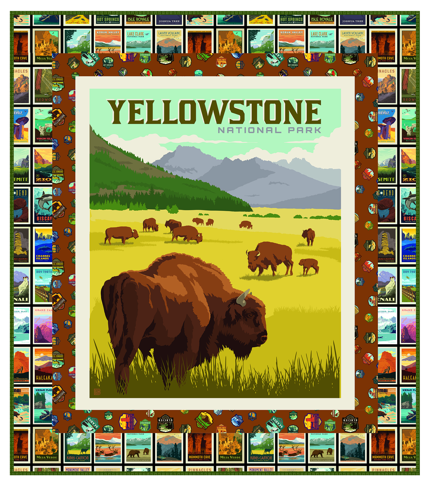 Yellowstone Panel Quilt