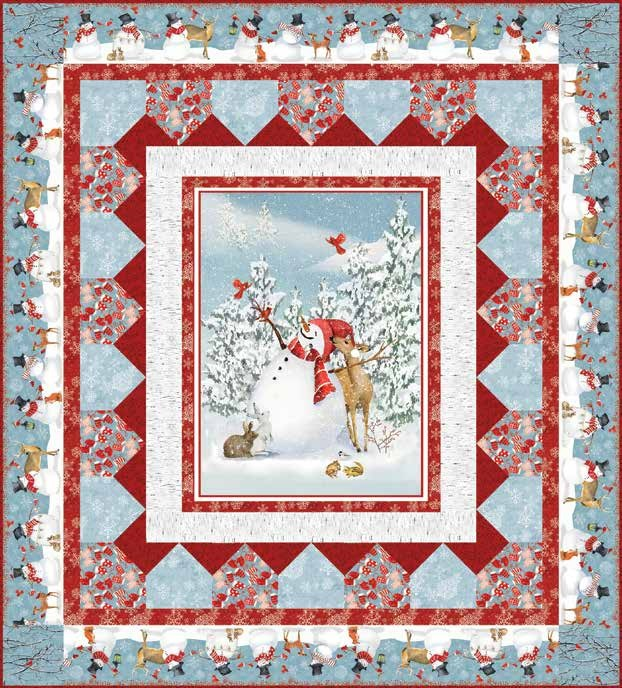 Free Pattern Sheltering Snowman Quilt 1