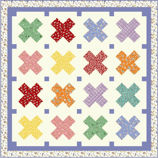 Aunt Grace Basket of Scraps Child's Quilt